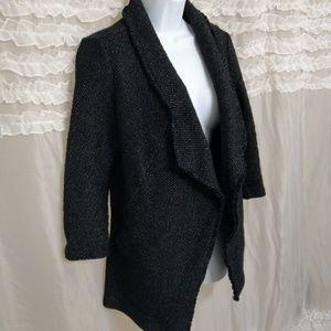 Bella Luxx Black White Cardigan Jacket Sweater